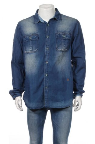 Pánska košeľa  Scotch & Soda, Veľkosť XL, Farba Modrá, Bavlna, Cena  17,78€