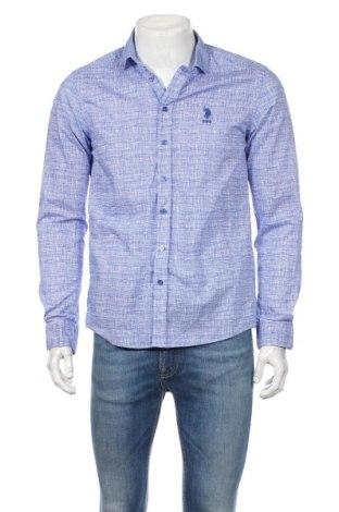 Мъжка риза U.S. Polo Assn., Размер M, Цвят Син, Памук, Цена 30,35лв.