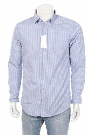 Ανδρικό πουκάμισο Uniqlo, Μέγεθος L, Χρώμα Μπλέ, Βαμβάκι, Τιμή 14,00€