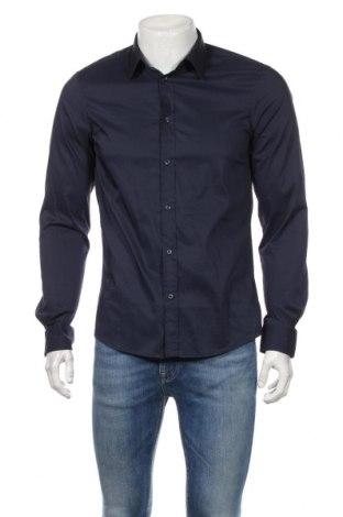 Pánska košeľa  United Colors Of Benetton, Veľkosť M, Farba Modrá, 68% bavlna, 28% polyamide, 4% elastan, Cena  10,01€