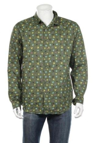 Мъжка риза United Colors Of Benetton, Размер XL, Цвят Зелен, Цена 21,61лв.