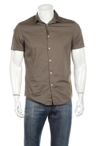 Ανδρικό πουκάμισο Zara, Μέγεθος L, Χρώμα Πράσινο, 78% βαμβάκι, 19% πολυαμίδη, 3% ελαστάνη, Τιμή 8,66€