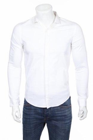 Pánska košeľa  Zara, Veľkosť M, Farba Biela, 78% bavlna, 19% polyamide, 3% elastan, Cena  28,87€