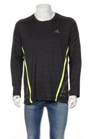 Мъжка спортна блуза Adidas, Размер XL, Цвят Сив, 95% полиестер, 5% еластан, Цена 36,91лв.