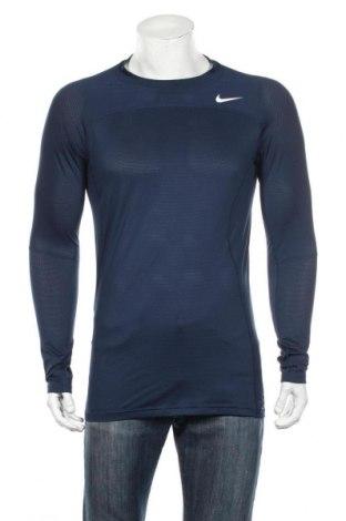 Pánske športové tričko  Nike, Veľkosť XL, Farba Modrá, 86% polyester, 14% elastan, Cena  18,89€