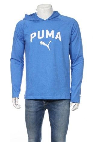 Pánske športové tričko  PUMA, Veľkosť M, Farba Modrá, 60% bavlna, 40% polyester, Cena  15,56€