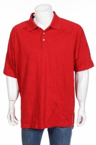 Мъжка тениска Adidas, Размер XL, Цвят Червен, 60% памук, 40% полиестер, Цена 41,90лв.