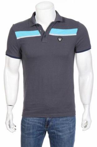 Мъжка тениска Emporio Armani, Размер S, Цвят Сив, Памук, Цена 83,30лв.