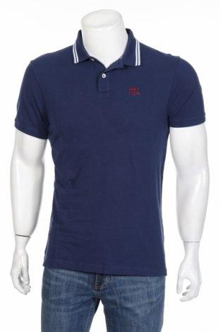 Tricou de bărbați Hackett, Mărime M, Culoare Albastru, Bumbac, Preț 108,95 Lei