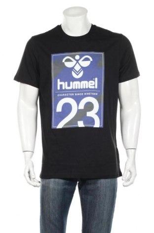 Ανδρικό t-shirt Hummel, Μέγεθος XL, Χρώμα Μαύρο, Βαμβάκι, Τιμή 7,44€