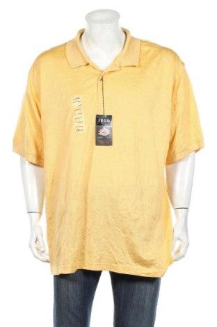 Мъжка тениска Izod, Размер XXL, Цвят Жълт, Памук, Цена 25,94лв.
