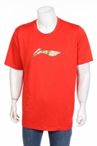 Мъжка тениска Li-Ning, Размер XXL, Цвят Червен, Полиестер, Цена 28,93лв.