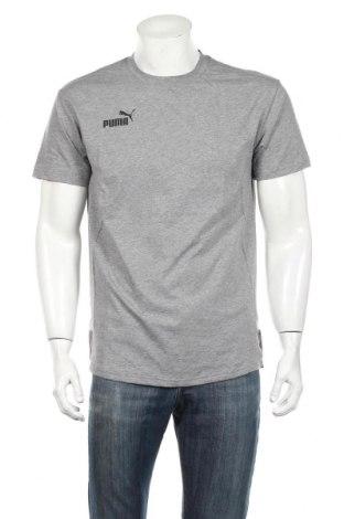 Мъжка тениска PUMA, Размер M, Цвят Сив, 60% памук, 40% полиестер, Цена 30,24лв.