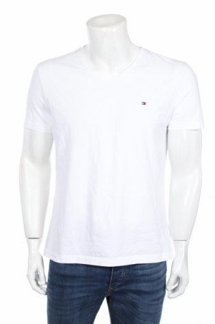 Ανδρικό t-shirt Tommy Hilfiger, Μέγεθος XL, Χρώμα Λευκό, 95% βαμβάκι, 5% ελαστάνη, Τιμή 30,86€