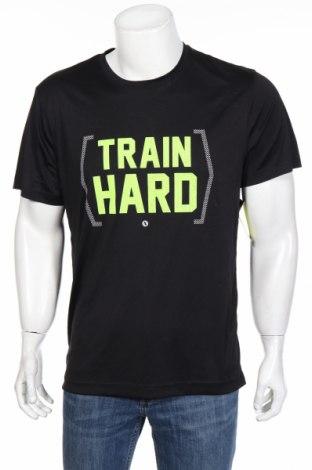 Мъжка тениска Xersion, Размер L, Цвят Черен, Полиестер, Цена 31,92лв.