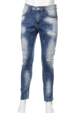 Мъжки дънки, Размер M, Цвят Син, 74% памук, 24% полиестер, 2% еластан, Цена 25,94лв.