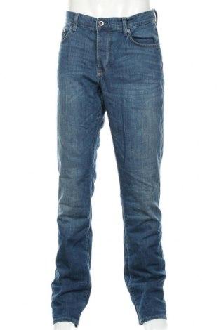 Мъжки дънки C&A, Размер L, Цвят Син, 99% памук, 1% еластан, Цена 27,78лв.