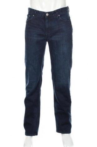 Мъжки дънки Calvin Klein Jeans, Размер M, Цвят Син, 98% памук, 2% еластан, Цена 40,13лв.