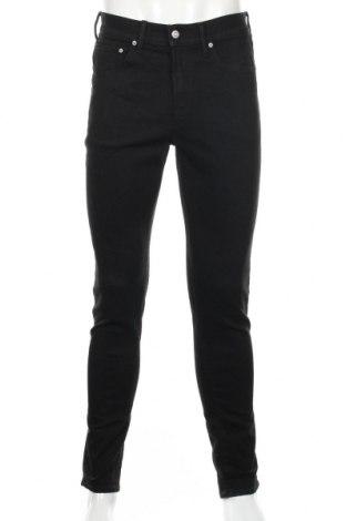 Мъжки дънки H&M, Размер M, Цвят Черен, 73% памук, 26% полиестер, 1% еластан, Цена 27,93лв.