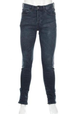 Мъжки дънки H&M, Размер M, Цвят Син, 99% памук, 1% еластан, Цена 22,64лв.