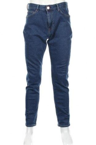 Мъжки дънки H&M, Размер L, Цвят Син, 99% памук, 1% еластан, Цена 29,84лв.