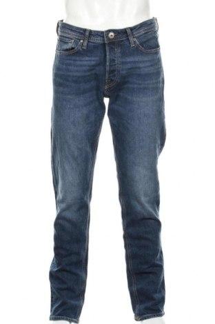 Мъжки дънки Jack & Jones, Размер L, Цвят Син, 98% памук, 2% еластан, Цена 26,75лв.