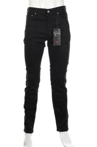 Мъжки дънки Levi's, Размер M, Цвят Черен, 98% памук, 2% еластан, Цена 101,32лв.
