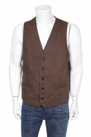 Мъжки елек Jack London, Размер L, Цвят Кафяв, 90% полиестер, 10% вълна, Цена 23,10лв.