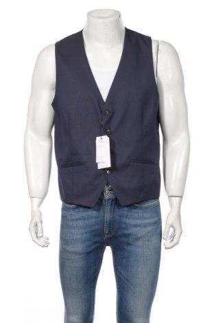 Мъжки елек Selected Homme, Размер XL, Цвят Син, 76% полиестер, 22% вискоза, 2% еластан, Цена 89,00лв.