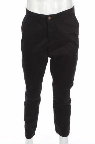 Ανδρικό παντελόνι Jack & Jones, Μέγεθος L, Χρώμα Μαύρο, 98% βαμβάκι, 2% ελαστάνη, Τιμή 30,43€