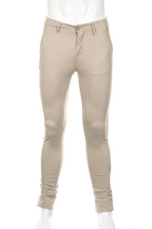Мъжки панталон Jack & Jones, Размер S, Цвят Бежов, 98% памук, 2% еластан, Цена 31,15лв.