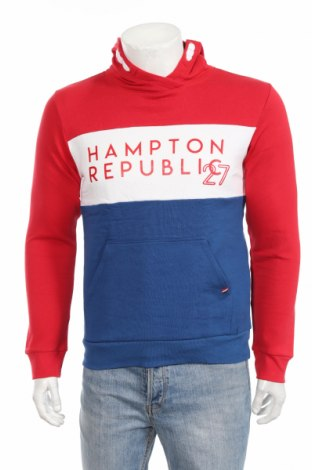 Hanorac de bărbați Hampton Republic, Mărime M, Culoare Roșu, 80% bumbac, 20% poliester, Preț 62,17 Lei