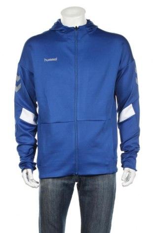 Męska bluza Hummel, Rozmiar L, Kolor Niebieski, 95% poliester, 5% elastyna, Cena 77,70zł