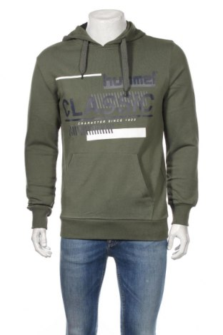 Męska bluza Hummel, Rozmiar S, Kolor Zielony, 80% bawełna, 20% poliester, Cena 109,15zł