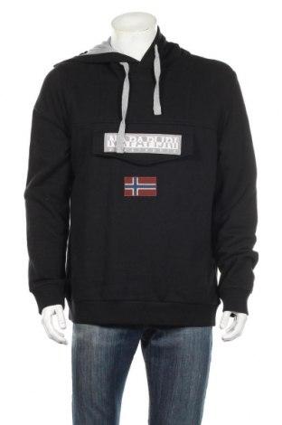Pánska mikina  Napapijri, Veľkosť XL, Farba Čierna, 90% bavlna, 10% polyester, Cena  45,21€