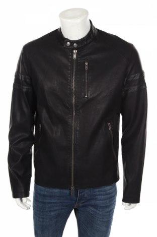 Мъжко кожено яке Guess, Размер XL, Цвят Черен, Еко кожа, Цена 85,00лв.