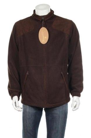 Мъжко поларено яке Sher Wood, Размер L, Цвят Кафяв, 100% полиестер, Цена 49,68лв.