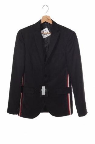 Мъжко сако Boohoo, Размер S, Цвят Черен, 62% полиестер, 35% вискоза, 3% еластан, Цена 51,75лв.