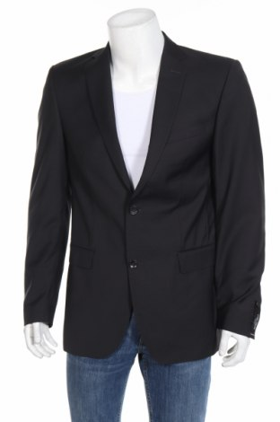 Мъжко сако Carl Gross, Размер M, Цвят Черен, Вълна, Цена 97,30лв.