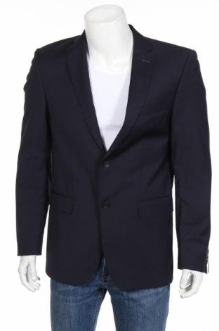 Pánske sako  Carl Gross, Veľkosť M, Farba Modrá, 54% polyester, 44% vlna, 2% elastan, Cena  159,28€
