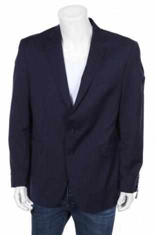 Мъжко сако Christian Berg, Размер XL, Цвят Син, 53% полиестер, 44% вълна, 3% еластан, Цена 69,00лв.