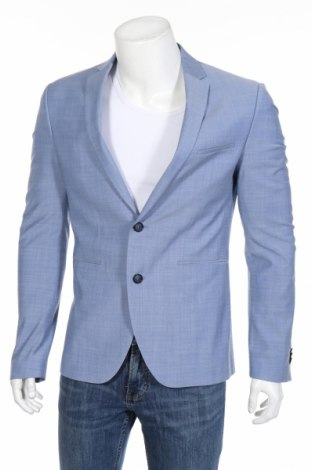 Pánske sako  Cinque, Veľkosť M, Farba Modrá, 52% vlna, 44% polyester, 4% elastan, Cena  169,59€