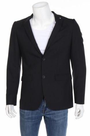 Мъжко сако Club Of Gents, Размер M, Цвят Черен, 60% вълна, 39% полиестер, 1% еластан, Цена 46,50лв.