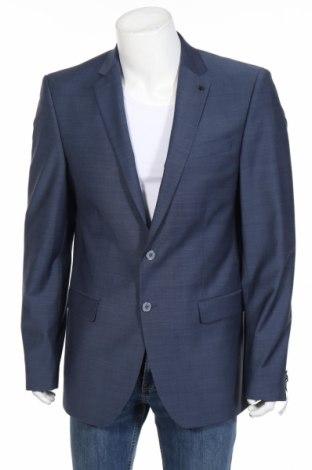 Pánske sako  Daniel Hechter, Veľkosť XL, Farba Modrá, 51% vlna, 44% polyester, 5% elastan, Cena  133,51€