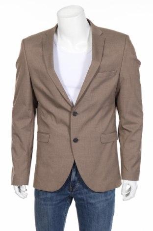 Pánske sako  Selected Homme, Veľkosť XL, Farba Béžová, 65% polyester, 33% viskóza, 2% elastan, Cena  59,23€