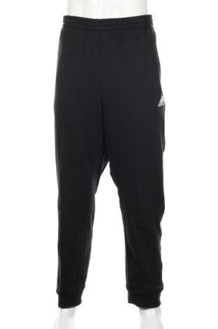 Pantaloni trening de bărbați Adidas, Mărime XXL, Culoare Negru, 100% bumbac, Preț 234,21 Lei
