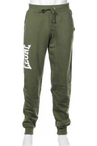 Pantaloni trening de bărbați Leone, Mărime XL, Culoare Verde, 100% bumbac, Preț 87,16 Lei