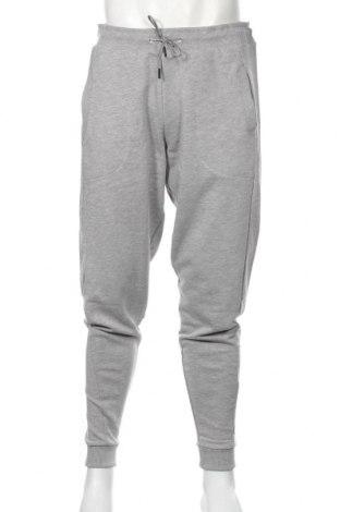 Pantaloni trening de bărbați Odlo, Mărime L, Culoare Gri, 52% poliester, 48% bumbac, Preț 168,63 Lei