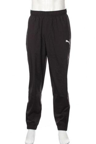 Pantaloni trening de bărbați PUMA, Mărime L, Culoare Negru, 100% poliester, Preț 207,89 Lei