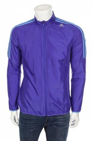 Мъжко спортно горнище Adidas, Размер M, Цвят Син, Полиестер, Цена 37,45лв.